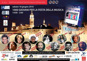1000 Giovani per la Festa della Musica 2016 Mantova