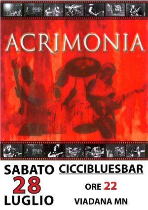 Musica, Acrimonia CicciBluesBar Viadana (Mantova)