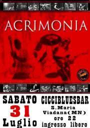 Concerto Acrimonia Ciccibluesbar di Viadana