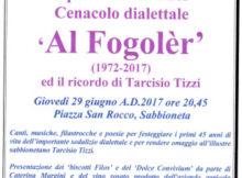 45° anniversario cenacolo dialettale Al Fogoler 2017
