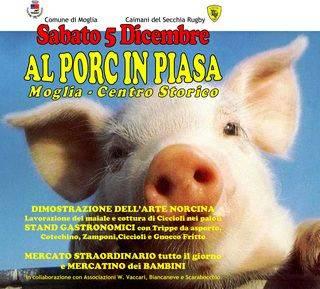 Al Porc in Piasa a Moglia il 5-12-2009