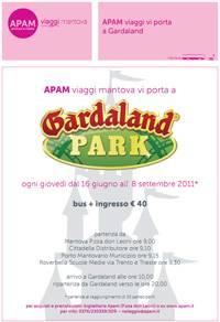 Apam Viaggi: autobus Mantova - Gardaland 2011
