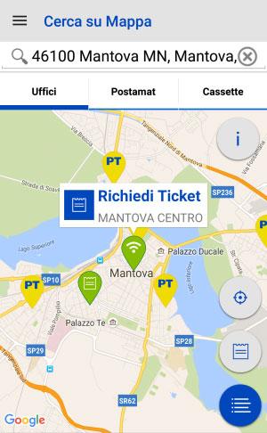 App Ufficio Postale Mantova ticket online