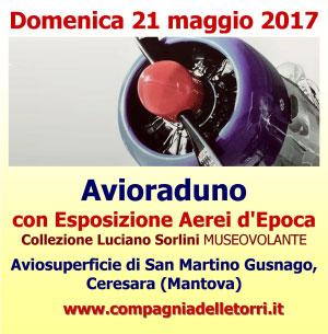 Avioraduno esposizione aerei epoca Ceresara Mantova 2017