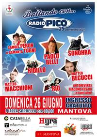 Ballando con Radio Pico Mantova Piazza Sordello 2011