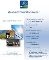 Bando Energie Rinnovabili GAL Oglio Po