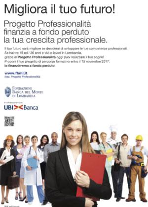 Bando progetto professionalità Lombardia 2017 2018