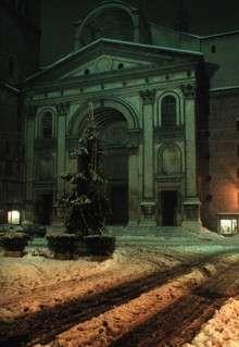 Mantova Basilica S. Andrea con neve