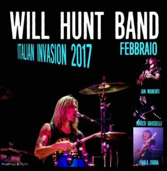 batterista Will Hunt tour Italia 2017 Castel Goffredo Mantova