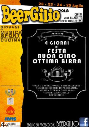 Beergilio festa della birra Cerese di Borgo Virgilio (MN) 2016