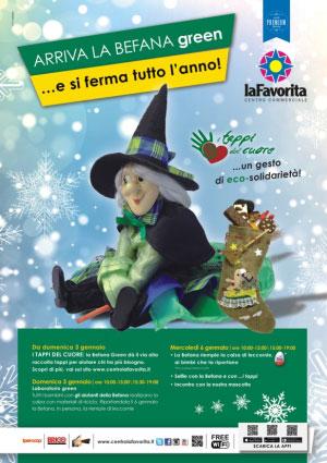 Befana Green 2016 centro commerciale La Favorita Mantova