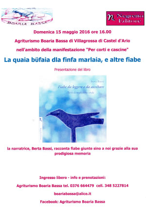 Berta Bassi fiabe Castel d'Ario (MN)