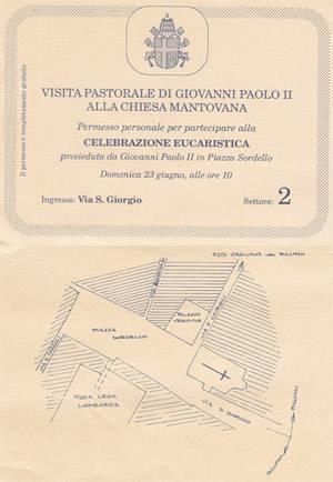 Visita Pastorale di Giovanni Paolo II alla Chiesa Mantovana