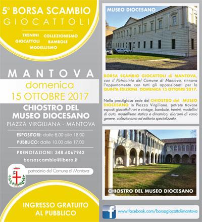 Borsa scambio giocattoli Mantova 15 ottobre 2017
