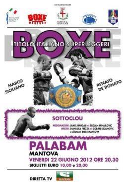 Boxe Titolo Italiano Pugilato 2012 Mantova