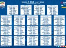 Calendario Campionato Calcio Serie A 2017 2018 pdf
