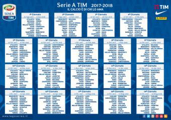 Calendario campionato calcio serie a 2017 2018 con pdf for Calendario eventi milano 2017
