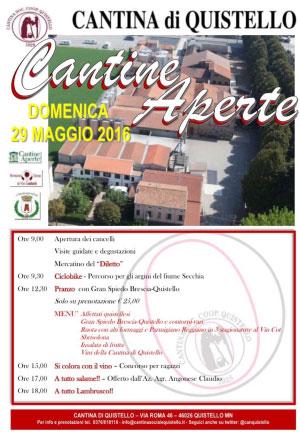 Cantine Aperte 2016 Cantina Sociale di Quistello (MN)