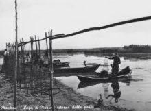 Cartolina pesca Mantova Lago di Mezzo