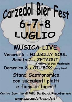 Carzedol Bier Fest 2012 Festa Birra Villa Garibaldi (Mantova)