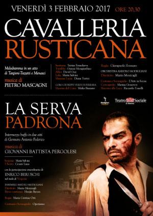Cavalleria Rusticana La Serva Padrona Teatro Sociale Mantova 2017