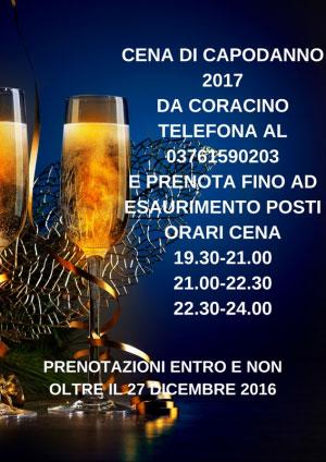 Cena capodanno 2017 Mantova Coracino