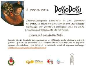 A cena con Dosso Dossi a San Giovanni del Dosso (MN)