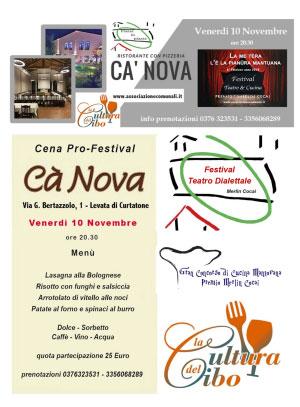 Cena Festival Dialetto e Cucina 10/11/2017 Levata (MN)