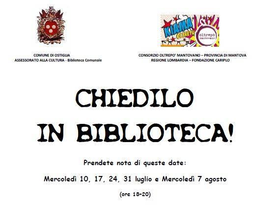 Chiedilo in Biblioteca Ostiglia (Mantova)