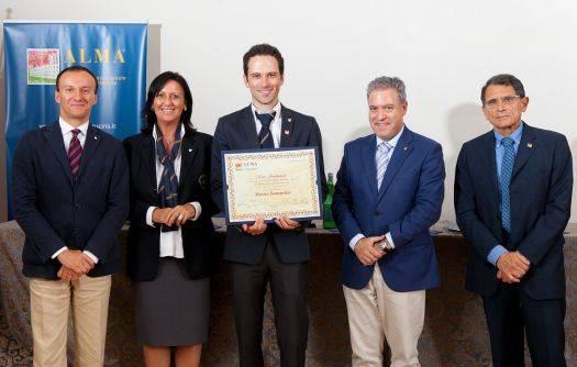 Ciro Fontanesi, premiazione Master Sommelier ALMA AIS