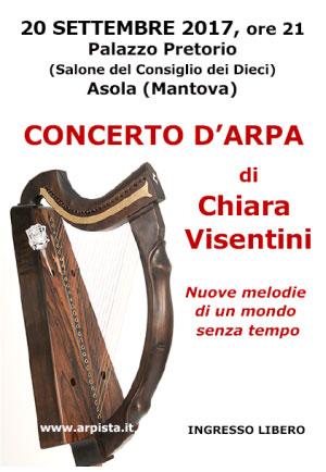 Concerto arpa Chiara Visentini Asola (Mantova) 2017
