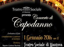 Concerto Capodanno 2016 Mantova Teatro Sociale