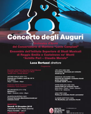 Concerto degli Auguri Natale 2015 Mantova