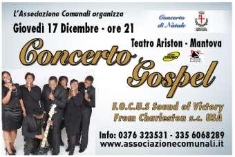 Concerto Gospel Natale 2015 Mantova Teatro Ariston