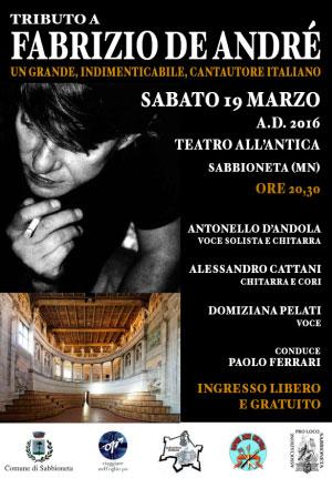 Concerto Tributo Fabrizio De Andrè Sabbioneta 2016