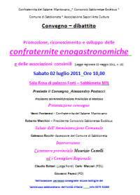 Confraternite Enogastronomiche a Sabbioneta (Mantova)