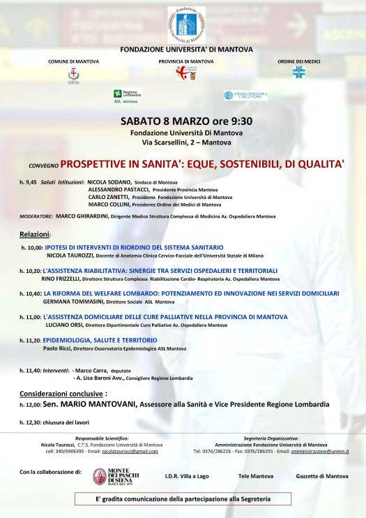 Convegno Prospettive in Sanità Mantova