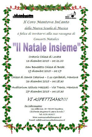 Concerti Coro Mantova InCanto Natale 2015