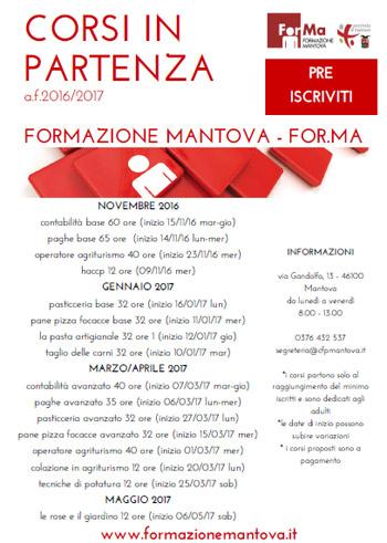 Forma Corsi Formazione Mantova 2016 2017