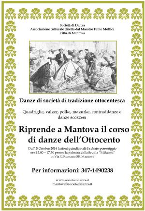 Corso danze Ottocento Mantova 2016