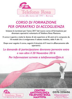 Corso operatrici Telefono Rosa Mantova 2017