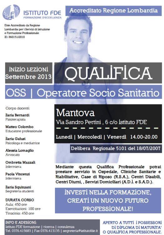 Corso OSS Mantova Istituto FDE