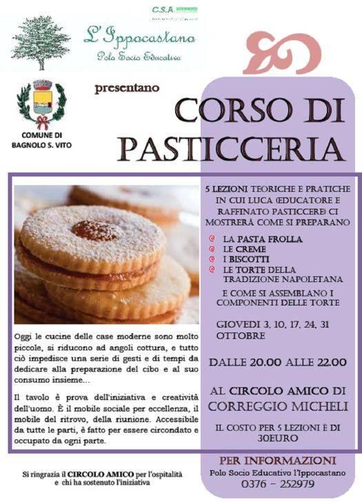 Corso di Pasticceria a Bagnolo San Vito (Mantova)