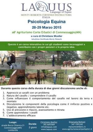 Corso psicologia equina Commessaggio (Mantova)