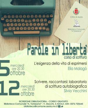 Corso scrittura Asola Mantova 2016