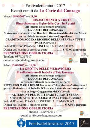 Eventi La Corte dei Gonzaga Mantova Festivaletteratura 2017