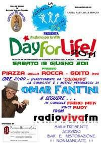Day for Life 2011 a Goito (Mantova): Omar Fantini di Colorado Cafè e Radio Viva FM