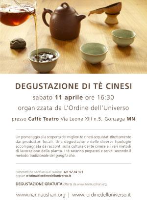 Degustazione tè cinese Gonzaga (Mantova)