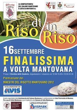 Di Riso in Riso 2012, Maestri del Risotto Mantovano 2012