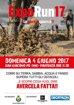 Expo Run 2017 corsa sporca mud run San Giacomo Po Mantova